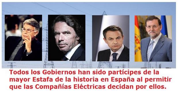 La mayor estafa en la historia de España se llama electricidad