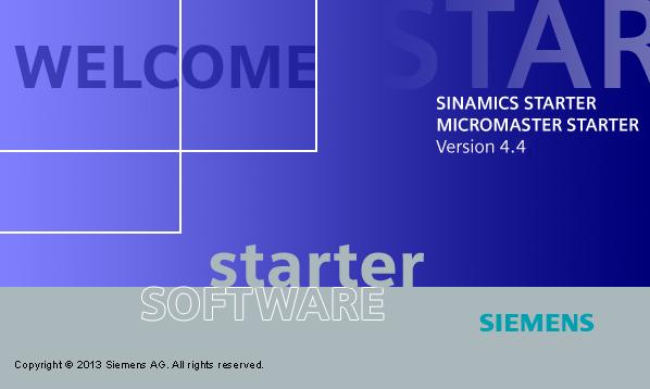 Nueva versión de Siemens STARTER V4.4