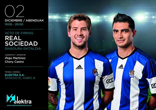 Iñigo Martinez y Chory Castro firmarán autógrafos en Elektra S.A