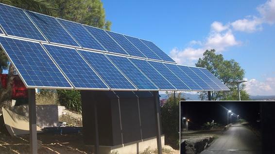 instalación de farolas solares