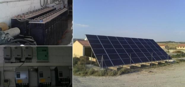 Instalación fotovoltaica granja de cerdos