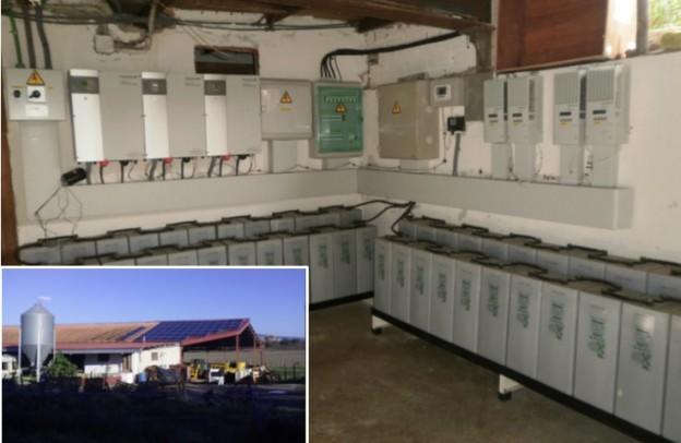 Instalación fotovoltaica para la alimentación de una granja de cría de vacuno, equino y ovino