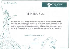 Elektra Certificado de Prevención