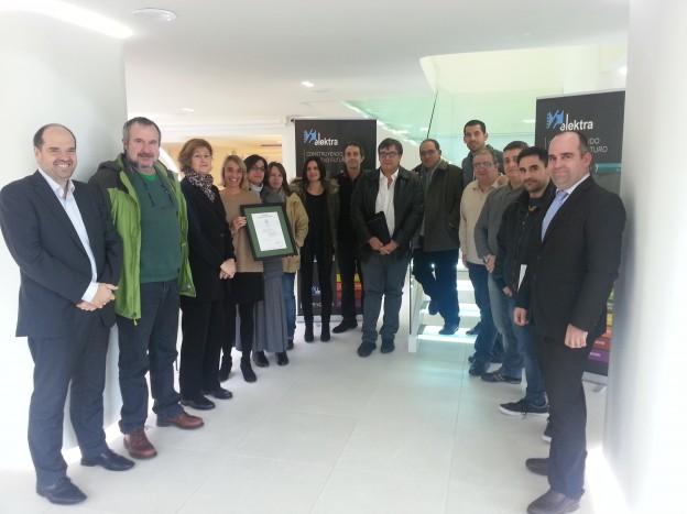 AENOR hace entrega del Certificado de Gestión de la Energía 50001 a Grupo Elektra
