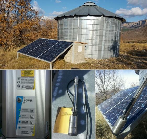 Bombeo solar para bebedero de ganado