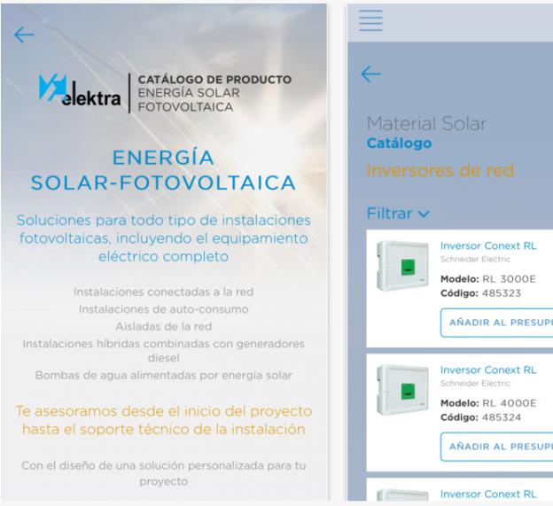 Descárgate la nueva APP con todo el catálogo de producto solar fotovoltaico