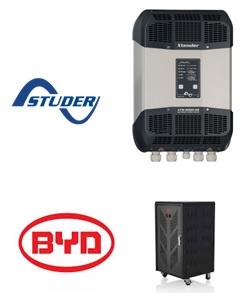 Las baterías de litio BYD hablan con los Xtender de Studer