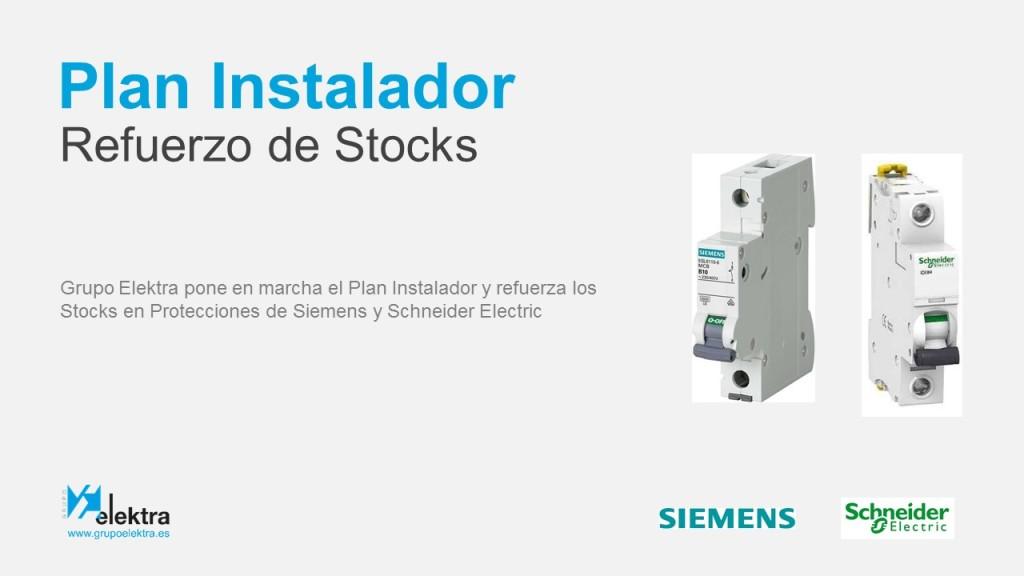 Refuerzo Stocks Siemens Schneider