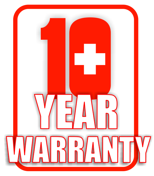 logo 10 year warranty