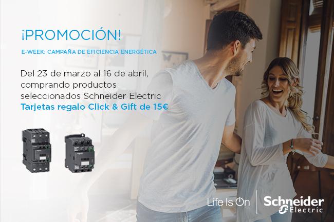 promoción eficiencia energética schneider tarjeta regalo click and gift