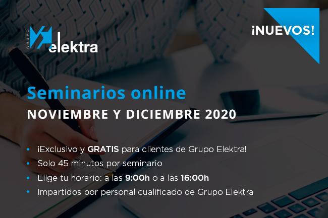 Seminarios online Grupo Elektra Noviembre y Dicimebre