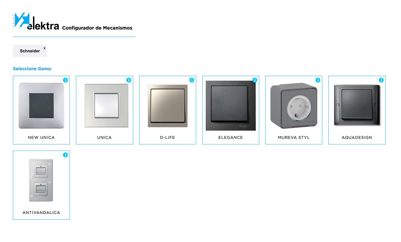 catálogo digital Configurador de Mecanismos herramienta digital