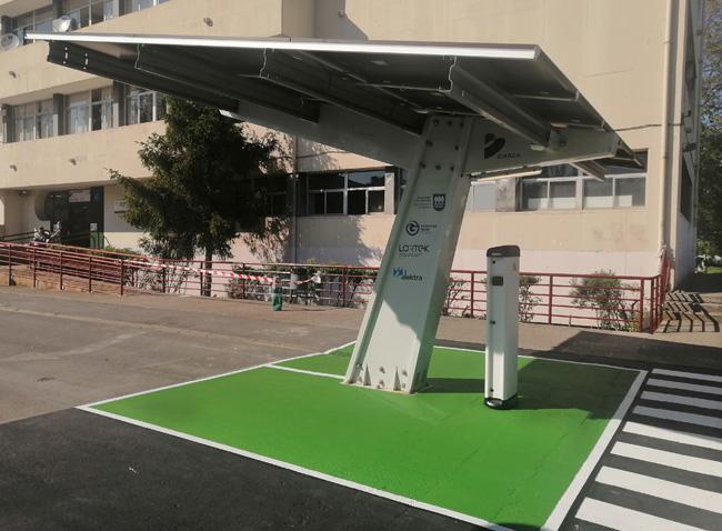 Grupo Elektra, puntos de carga de vehículo eléctrico Instituto Bidasoa