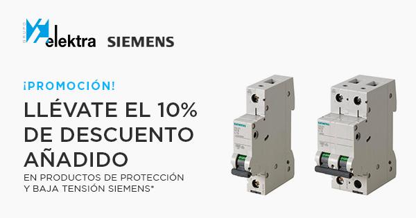 Grupo Elektra, promoción Siemens 10% de descuento añadido