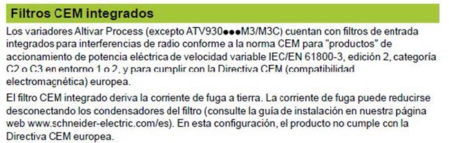 Filtros CEM integrados