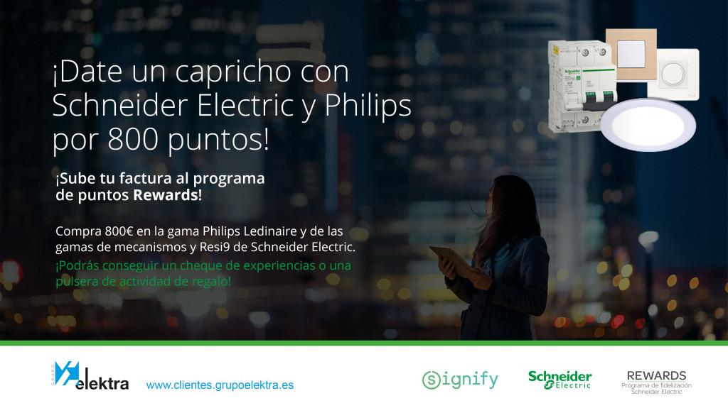 Promoción Schneider Electric y Philips