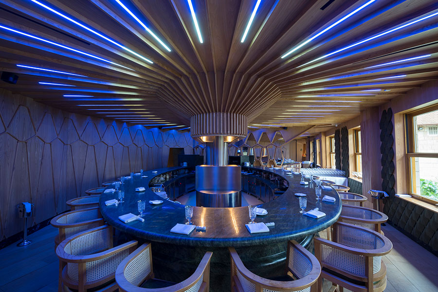 Iluminaci n interior del restaurante a barra grupo - Proyectos de iluminacion interior ...